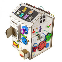 Бизиборд домик Большой развивающий со светом (35х35х50 см)