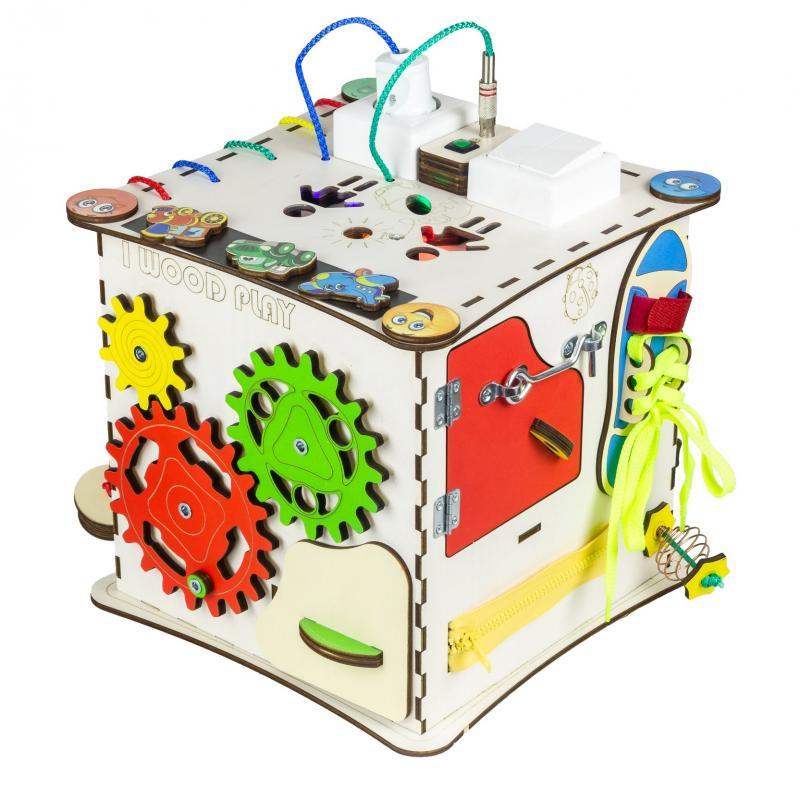 Бизиборд - Куб развивающий со светом