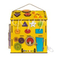 Бизиборд домик большой АФРИКА с музыкой и светом 35х35х47 см (KidClever)