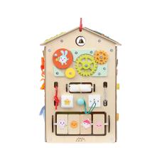 Бизиборд Занятный домик Малышарики (40х40х60)