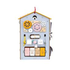 Бизиборд  Занятный домик Шведский (40х40х60)